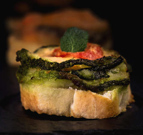 Parmigianina di zucchine e menta